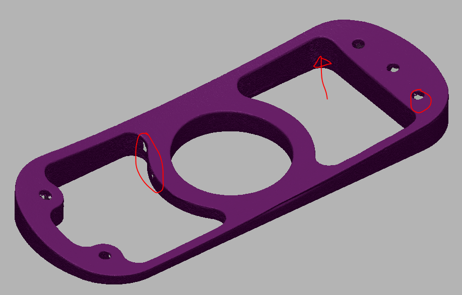 Scanning defects even on a simple part.