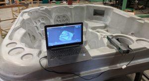 Mantis F6 smart scanning hot tub mold