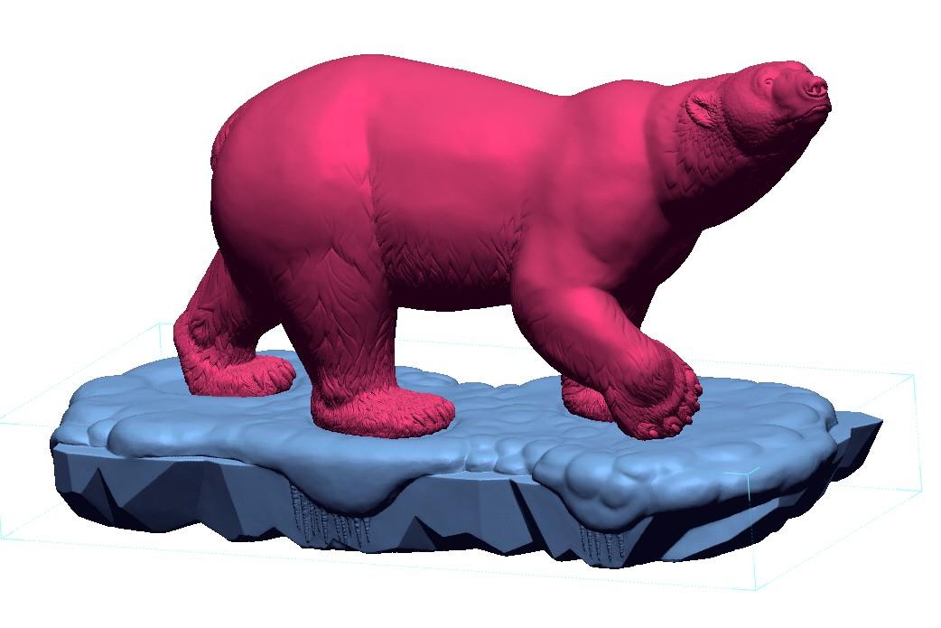 6ft polar bear Statue 3d Scan